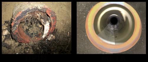 Καθαρισμός αποχέτευσης από ρίζες πριν και μετά στον Βύρωνα
